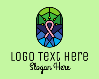 Non Profit - Breast Cancer Ribbon Mosaic  logo design