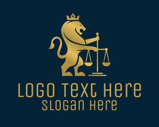 Scales - Crowned Lion Law Firm  logo design
