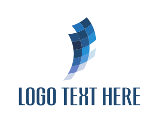 Screen - Blue Pixels logo design
