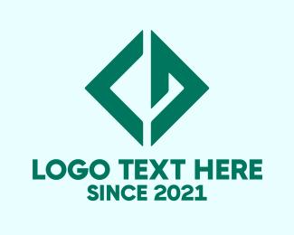 Cd - Green Diamond C & D logo design