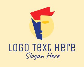 Modeling Agency - Art Face Cubism logo design