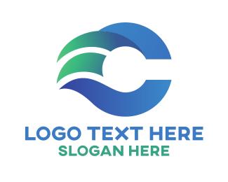 Speed - Modern Gradient Letter C logo design