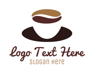 Brew - Coffee Cup Saucer logo design