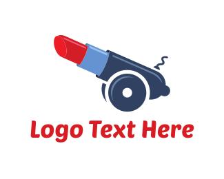 Cannon - Artillery Lipstick logo design