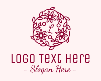Flowers - Flower Bouquet Letter logo design