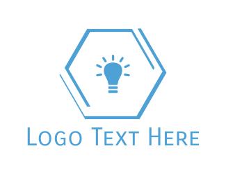 Illumination - Blue Lamp logo design