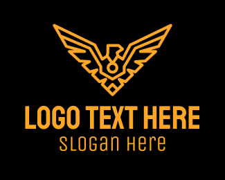 Strategy - Gold Airline Eagle logo design