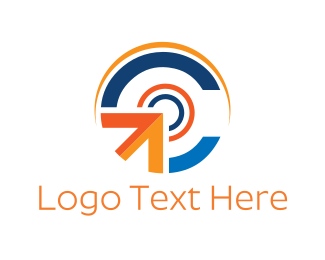 Import - Click Button logo design