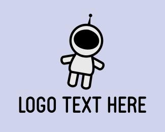 Robotic - Cute Astronaut logo design