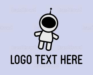 Spaceman - Cute Astronaut logo design