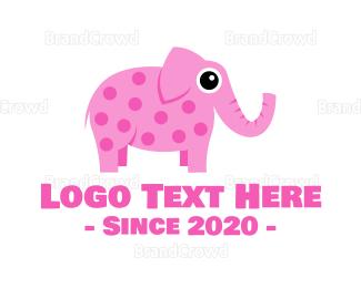 Infant - Pink Elephant logo design
