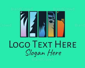 Fiji - Twilight Trees logo design