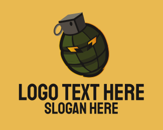 Mascot - Grenade Mascot logo design
