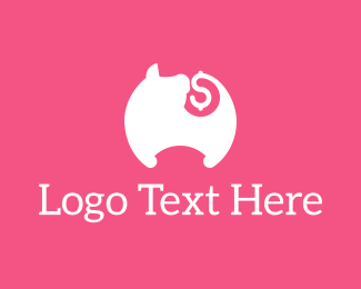 Save - Pig Tail Money logo design