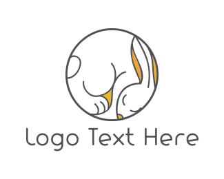 Nap - Sleepy Bunny logo design