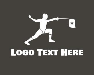 Fencing - Fencing Star logo design