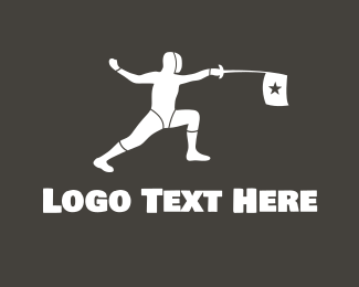 Attack - Fencing Star logo design
