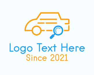 Automotive - Car Search Outline logo design