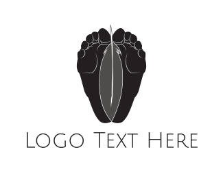 Toe - Feet & Feather logo design
