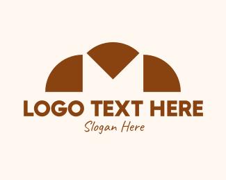 Croissant - Letter M Bakery  logo design