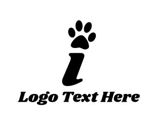 Letter I - Paw Letter I logo design