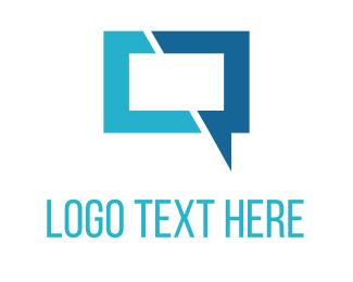 Forum - Blue Chat logo design