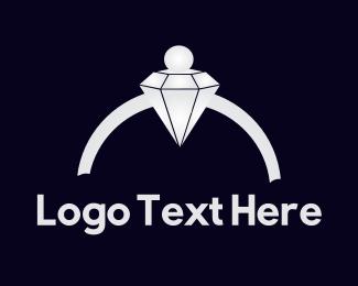 Engagement - Pearl & Diamond  logo design