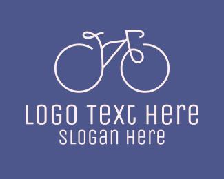 Exercise - Minimalist Bicycle Bike logo design