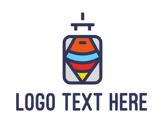 Case - Spin & Luggage logo design
