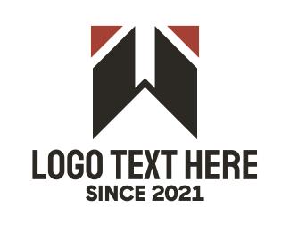Letter W - Black Letter W  logo design
