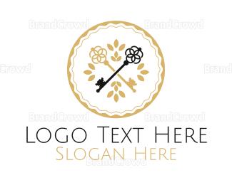 Key - Luxury Keys logo design