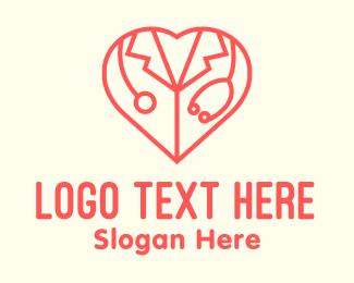 Cardiology - Cardiologist Heart Doctor logo design