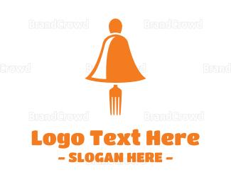 Fast Food - Gold Food Bell logo design