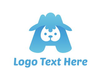 Blue Sheep - Blue Lamb logo design