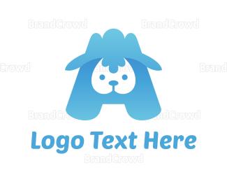 Sheep - Blue Lamb logo design