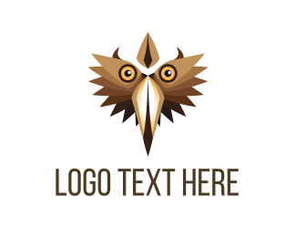 Beak - Brown Bird Face logo design