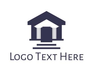 Coliseum - Pillar House logo design