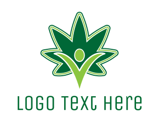 Hemp - Marijuana Power logo design