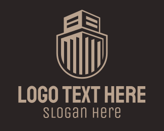 Prison - Building Guard Shield logo design