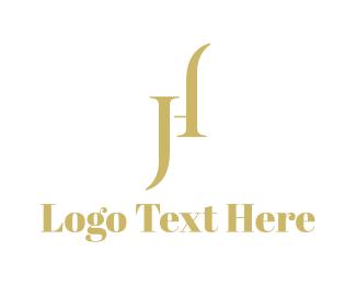 Letter J - J & H  logo design