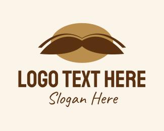 Men - Mustache Grooming  logo design