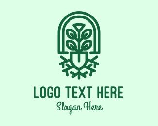 Hydroponic - Gardening Shovel Plant logo design