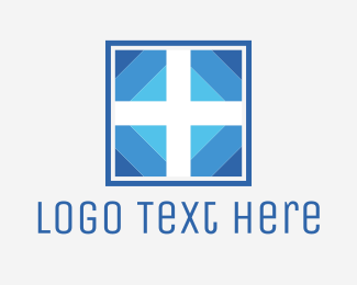 Religion - White & Blue Cross logo design