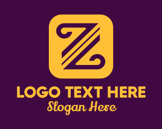 Typography - Curved Letter Z logo design