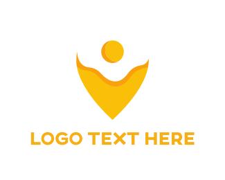 Pin - Egg Pin logo design
