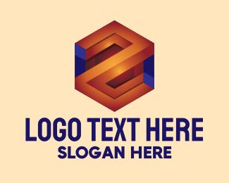 3d - 3D Business Hexagon  logo design