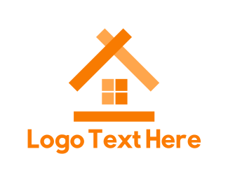 Residential Construction - Orange House logo design