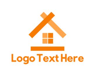 Cabin - Orange House logo design