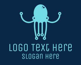 Squid - Startup Tech Octopus logo design