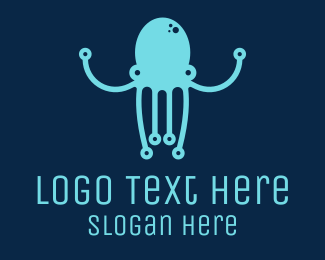 Squid - Startup Tech Octopus logo design